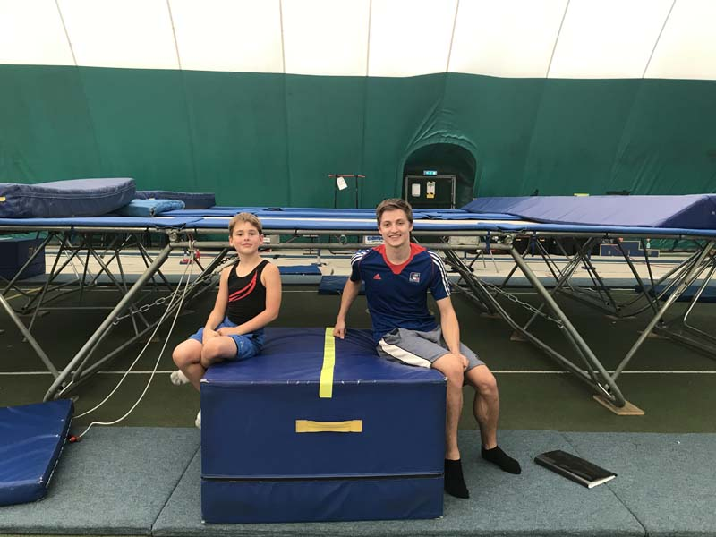 World Champion and ex Aspire Springers Gymnast Kristof Willerton visits the club